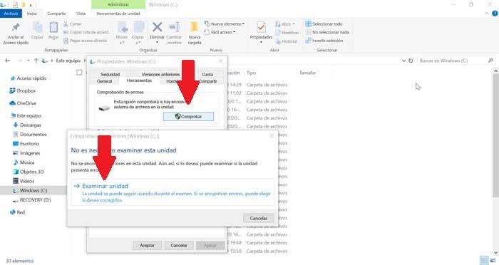 Error checking tool in Windows 10