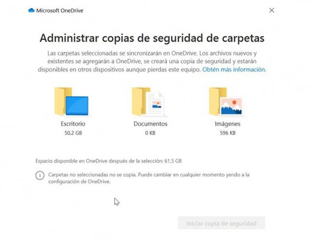 Unchecked backup folder
