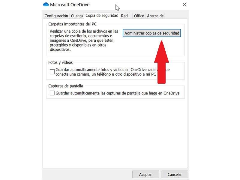 OneDrive Settings and Backup