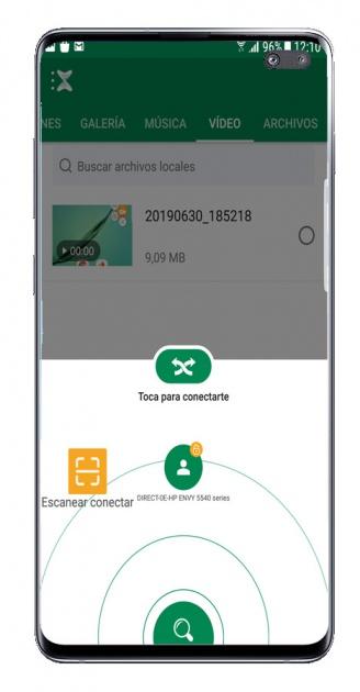 Receive file in Xender app