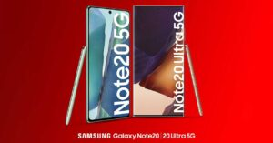 Vodafone offers to buy the new Samsung Galaxy Note 20
