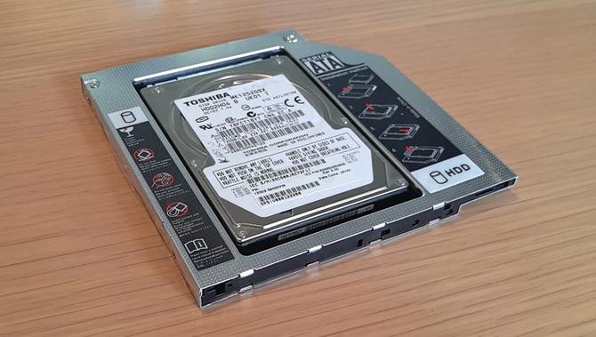 Portable hard drive adapter