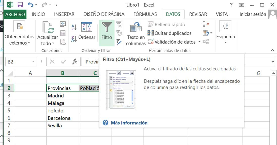 Filters - Search in Excel