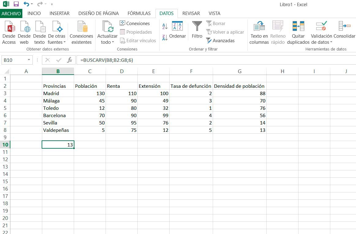 SearchV Excel