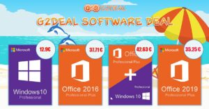 Buy Windows 10 Pro at € 12.9 and Office 2019…