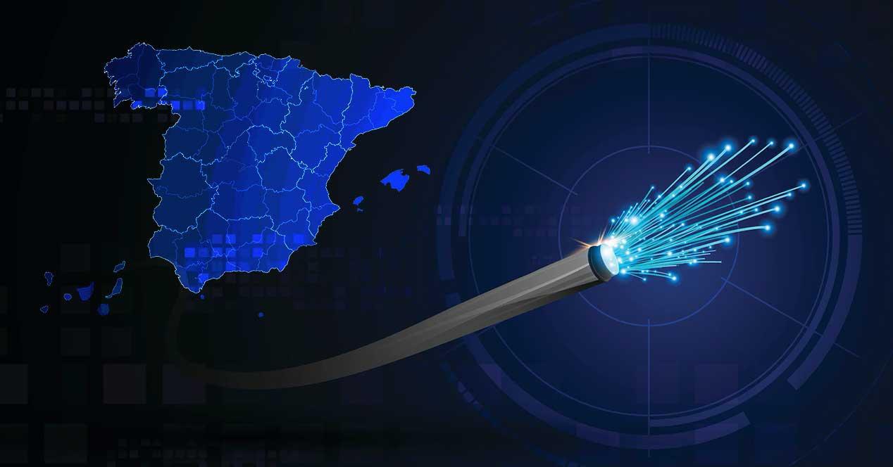 Spain dark fiber optic