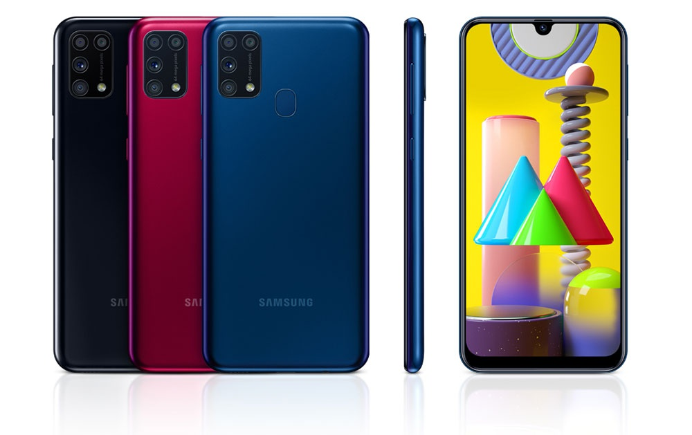 Colors of the Samsung Galaxy M31 smartphone