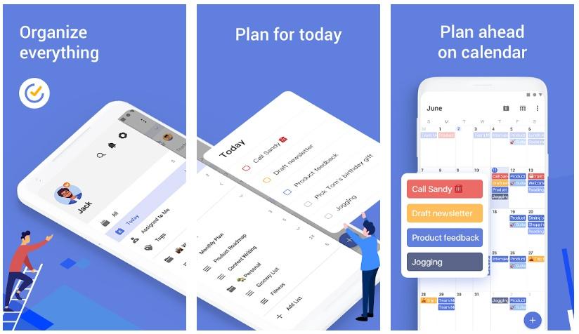 ticktick tasks apps to organize