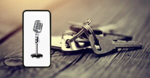 create duplicates of keys using the mobile microphone