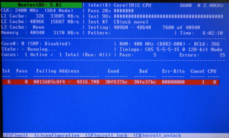 Check RAM with Memtest86 if you suffer from BDOD Memory Management