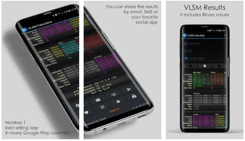 vlsm calculator free apps week 36