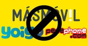 MásMóvil, Yoigo and Pepephone don't work: fiber optic Internet problems