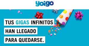 La Sinfín 25GB, 30GB, 40GB and 50GB from Yoigo, unlimited…