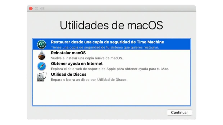restore mac time machine
