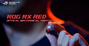 ASUS ROG RX Red, optical-mechanical keyboard switches