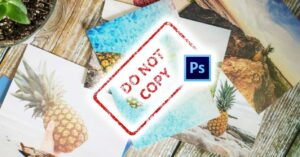 Create and use watermark in Photoshop to protect photos