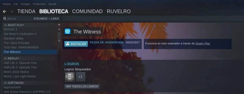 Steam Play Linux compatibility mode