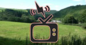 A TV without DTT leaves a town without Internet for…