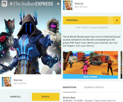 update fortnite android