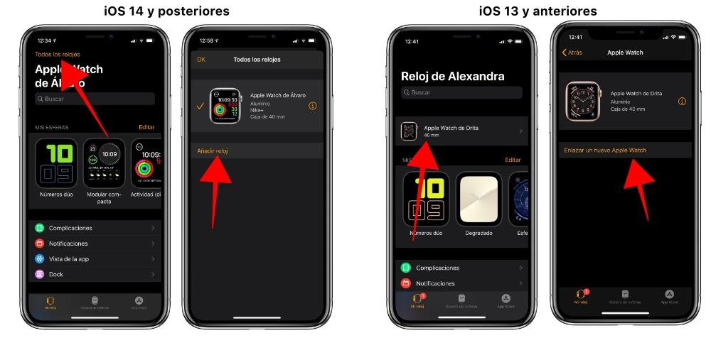 Pair multiple Apple Watch iPhones