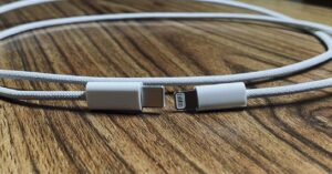 Possible iPhone 12 charging cable: nylon braided design