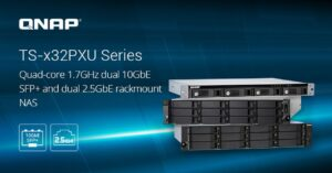 Rackable office NAS with 2.5GbE ports