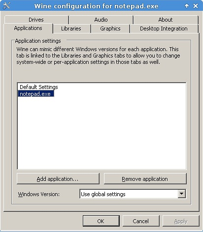 Wine Linux Configuration