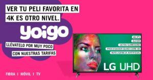Yoigo offers in fiber, mobile and Smart TV free for…