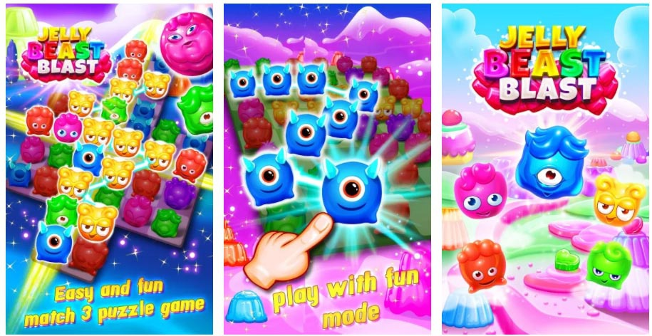 jelly beast blast games similar to candy crush