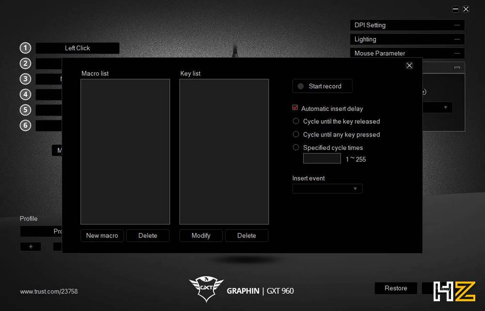 Trust Graphin GXT 960 - Review software 5