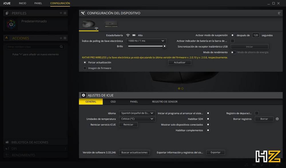 Corsair Katar Pro Wireless - Review Bench 1