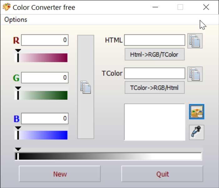 Color Converter interface