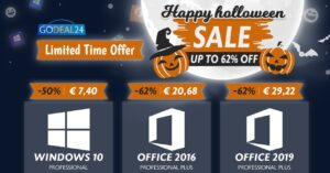 Deals on Halloween licenses, Windows 10 Pro for € 7.4