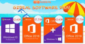 G2Deal offers to buy cheap Windows 10 Pro licenses