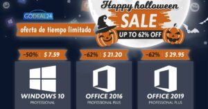 Windows and Office licenses discounted on Halloween
