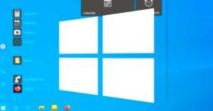 Crash in Windows 10 makes the start menu transparent