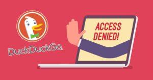 DuckDuckGo also censors search results like Google