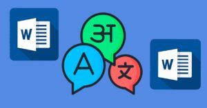 How to translate with Word – add different languages