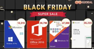 Buy Windows and Office licenses on sale on Black Friday