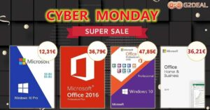 Offers in Windows and Office licenses by Cybermonday