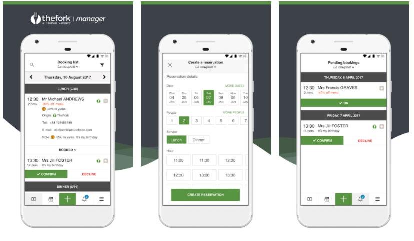 elfork manager apps manage restaurant