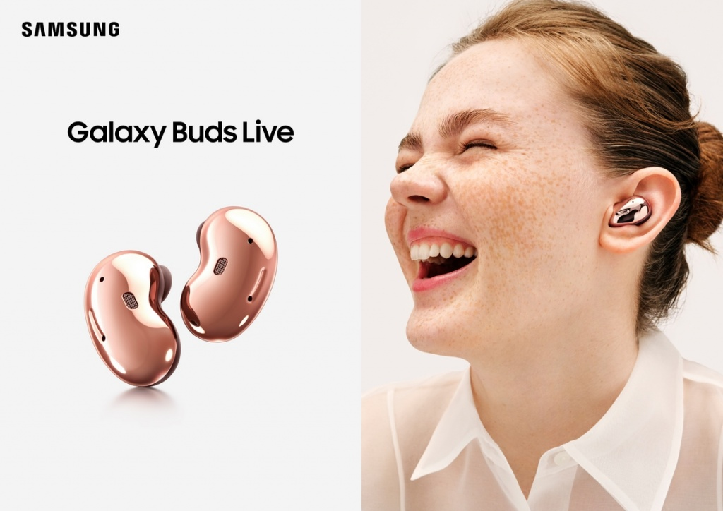 Using the Galaxy Buds Live headphones
