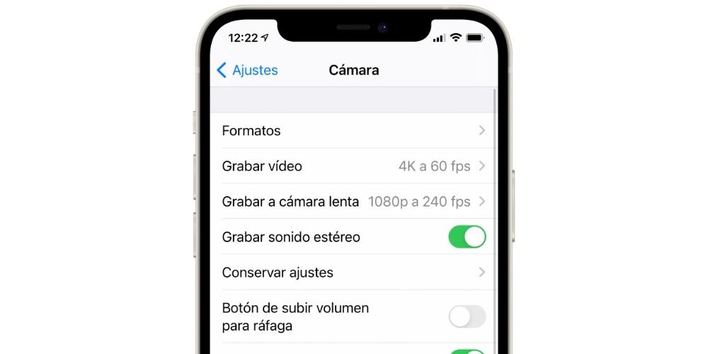 Camera Settings iPhone iOS