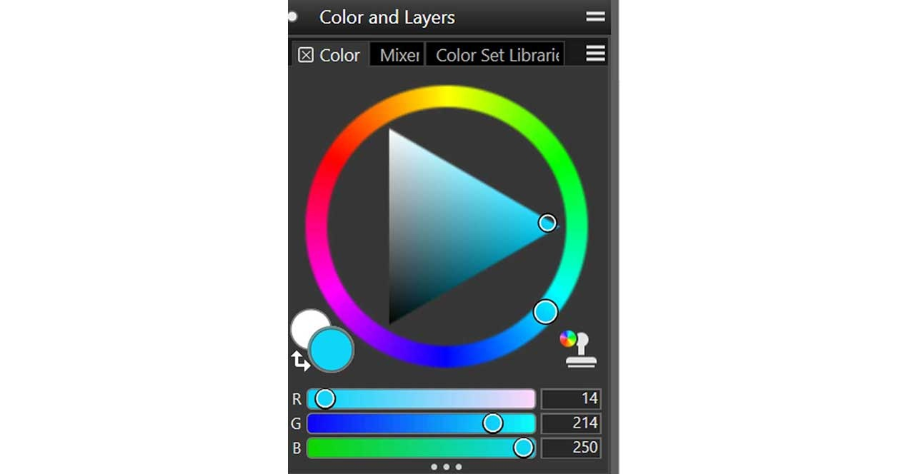 Corel Painter color wheel