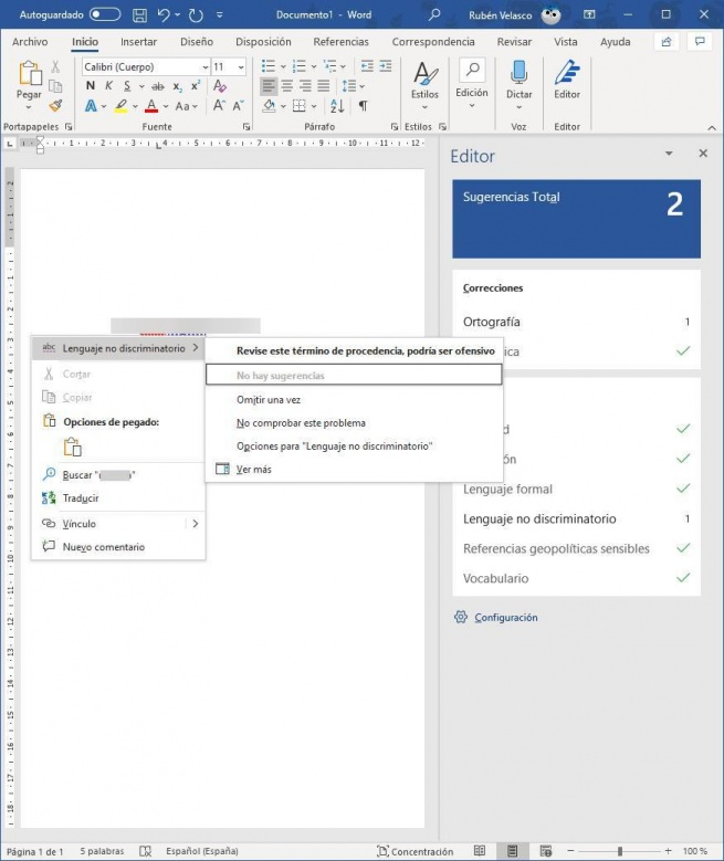 Wrong word in Word - MS Editor 2