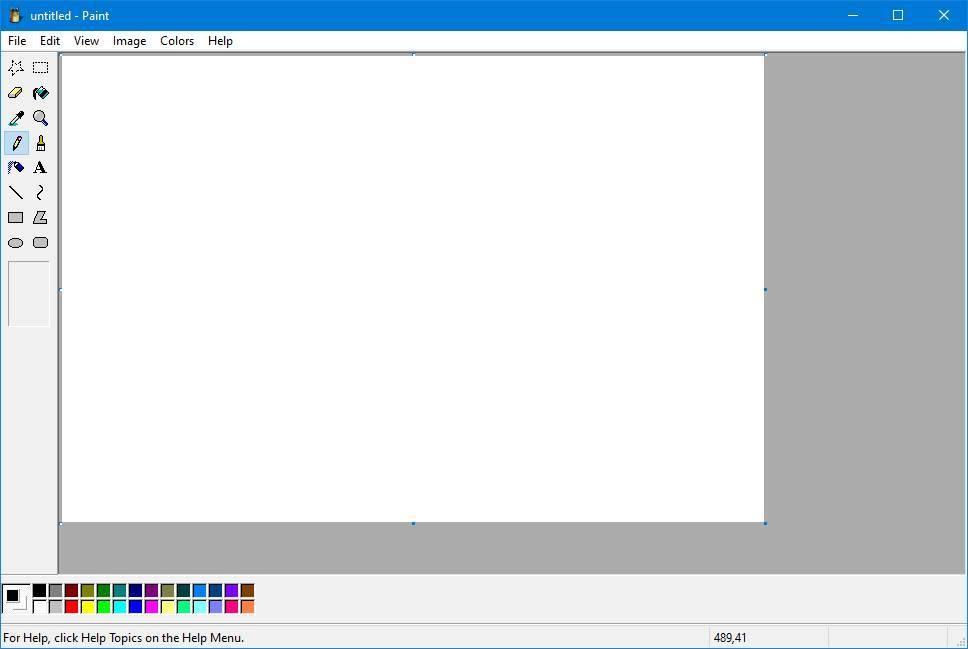 Windows XP Paint