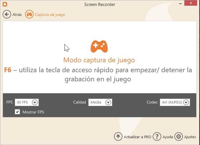 Icecream Screen Recorder, game capture mode