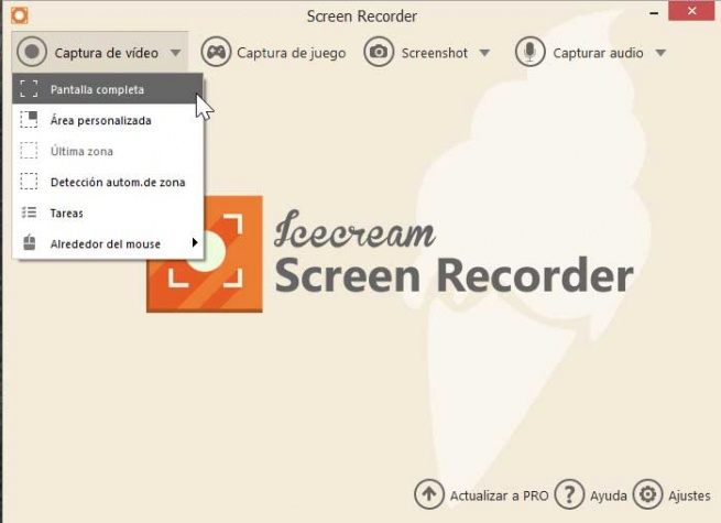 Icecream Screen Recorder, video capture