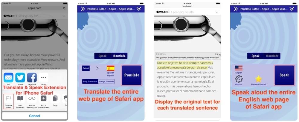 Translate for Safari
