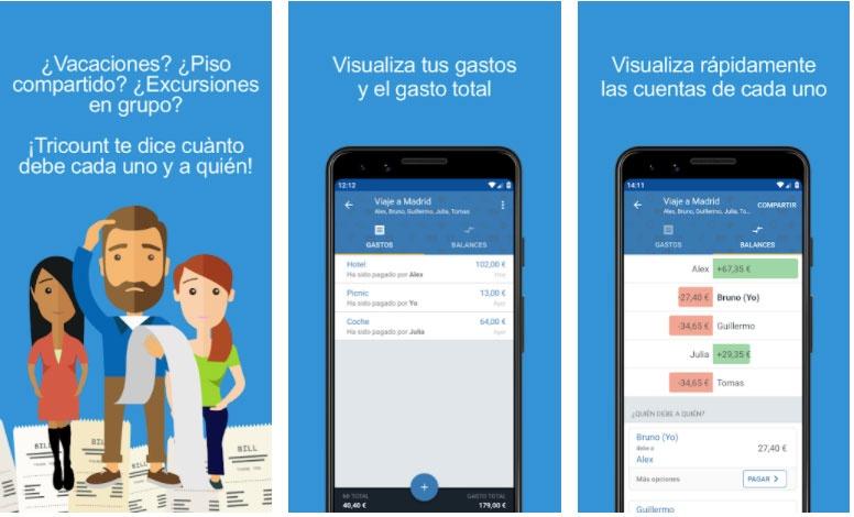 tricount apps split accounts